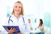 Kadın doktoru — Stok fotoğraf