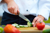 Cutting vegs — Stockfoto