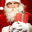 Santa with giftbox — Stock Photo #16052295