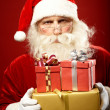 Santa with presents — Stock Photo #16052307