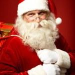 Постер, плакат: Santa with gifts