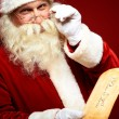 Santa with letter — Stock Photo #16053293