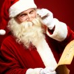 Santa reading letter — Stock Photo #16053373
