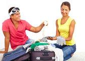 包装的手提箱 — 图库照片