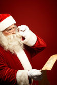Reading xmas wish — Stock Photo
