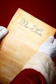List do santa — Zdjęcie stockowe