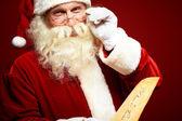 Snäll jultomte — Stockfoto