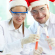 Christmas researchers - ストック写真