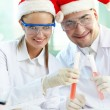 Stock Photo: Christmas researchers