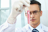 Chemist at work — Stock Photo