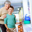 Stock Photo: Grandmother and grandson