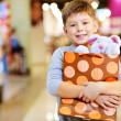 Child with gift — Stock Photo #16174065