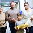 Family of shoppers - Foto Stock