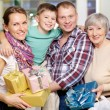 Family in the shop — Stockfoto