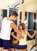 Workout on facilities — Stock Photo