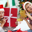 Foto Stock: Kids with gifts