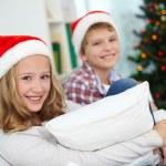 Siblings on Christmas — Stock Photo #17139203
