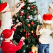Decorating firtree — Stock Photo #17139627