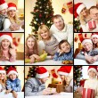 Family on Christmas — Stock Photo