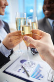Toast for companionship — Stock Photo