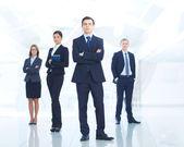 Führer und team — Stockfoto