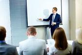 Rede bei der konferenz — Stockfoto