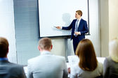 Speech at conference — Stock Photo