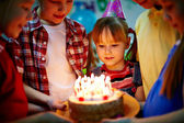 Postre de cumpleaños — Foto de Stock