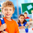 Schoolboy in school — Stock Photo #17140243