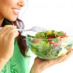 äta sallad — Stockfoto