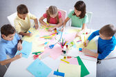 Drawing in group — Stock Photo