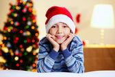 Weihnachten-junge — Stockfoto