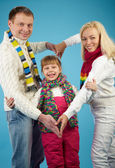 Family in winterwear — Stock Photo