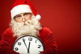 Santa con reloj — Foto de Stock