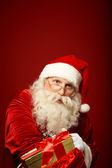 Generous Santa Claus — Stock Photo