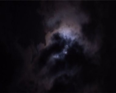 Moon in clouds — Stock Video