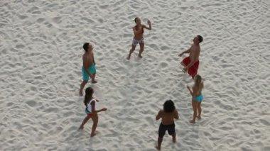 Beach volleyball — Stock Video