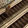 Shopping mall escalator — Stock Video