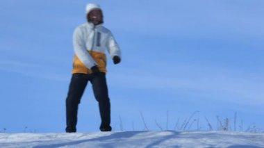 Baile de inverno — Vídeo Stock