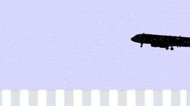 Risky landing — Stock Video