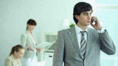 Successful employee — Stock Video