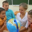 Stock Video: Geography lesson