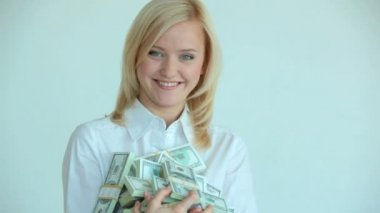 Wealthy blonde — Stock Video
