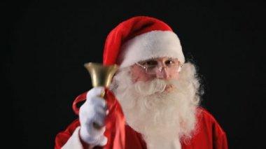 Santa ringing bell — Stock Video