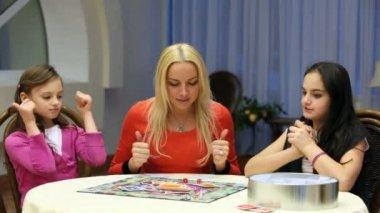 Hra stolní hra — Stock video