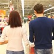 Couple at shopping centre — Stock Video