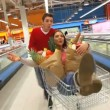 Riding market cart - Foto Stock