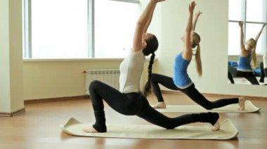 Yoga exercises — Stock Video