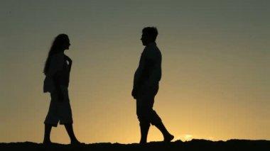 долгожданное свидание — Стоковое видео