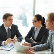 Discussing strategies — Stock Photo